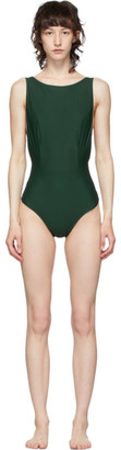 Haight Green Slit One-Piece Swimsuit