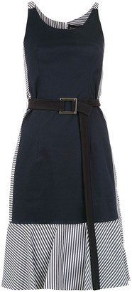 Gloria Coelho Belted Panelled Dress