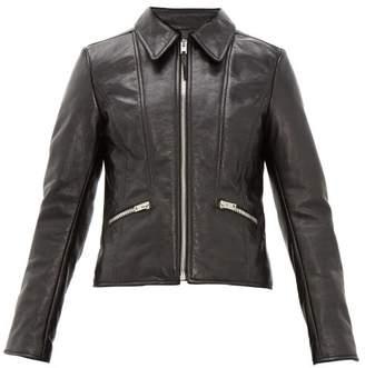 Joseph Cadman Creased-leather Jacket - Womens - Black