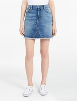 Calvin Klein Light Wash Denim A-Line Skirt