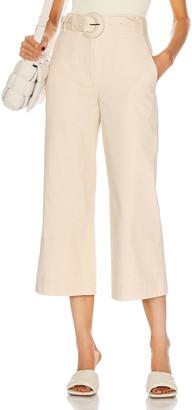 Proenza Schouler White Label Wide Leg Pant in Ecru | FWRD