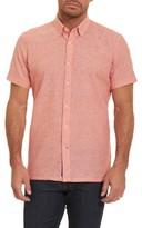 Robert Graham Men's Tailored Fit Stripe Short Sleeve Sport Shirt