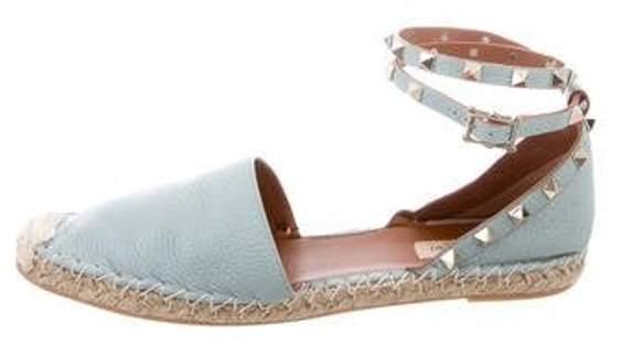 Valentino Rockstud Ankle-Strap Espadrilles blue Rockstud Ankle-Strap Espadrilles
