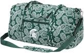 Vera Bradley Michigan State Spartans Bandana Travel Duffle Bag