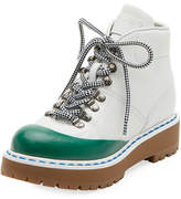 Prada Linea Rossa Lace-Up Leather Hiking Boot