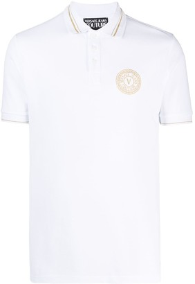 Versace Jeans Couture Logo-Print Short-Sleeved Polo Shirt