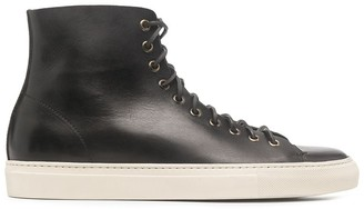 Buttero Tanino leather high-top sneakers