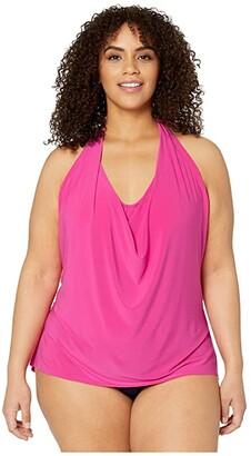Magicsuit Plus Size Solid Sophie Tankini (Rose) Women's Swimwear