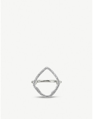Monica Vinader Riva sterling silver and diamond cocktail ring