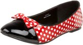 Funtasma MOUSE1_RW- Women's Mouse 1 Flat in Red/White