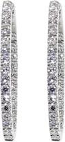 MARISSA DIAMONDS Medium Diamond Hoop Earrings