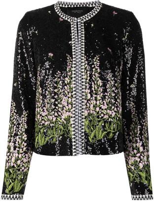 Giambattista Valli Floral-Embroidered Sequin Jacket