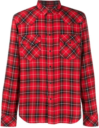 Diesel Check Flannel Western Shirt