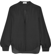 L'Agence Bianca Silk-georgette Blouse - Black