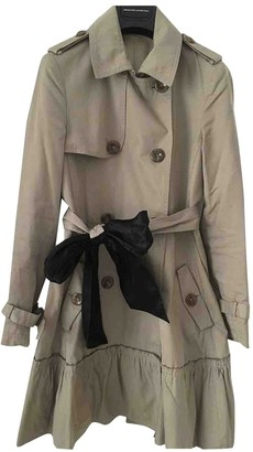 Valentino Red Beige Cotton Trench Coat for Women