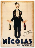 KitchenArt ''Nicolas Fines Bouteilles'' Canvas Wall Art