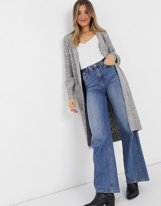 Abercrombie & Fitch longline cardigan in grey