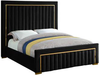 Meridian Furniture Dolce Velvet Bed, Black, King