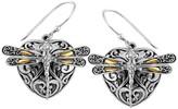 18K Gold & Sterling Silver Sweet Dragonfly Love Potion Earrings