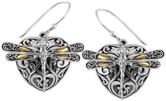 Devata 18K Gold & Sterling Silver Sweet Dragonfly Love Potion Earrings