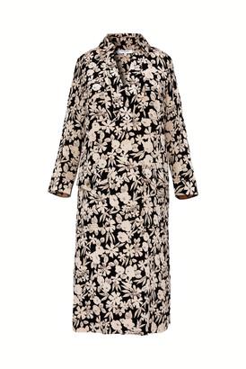 Gerard Darel Solange - Printed Silk Shirt Dress