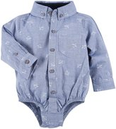 Andy & Evan Paper Planes Printed Shirtzie (Baby) - Blue-18-24 Months