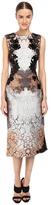 Alberta Ferretti Sleeveless Placed Printed Dress