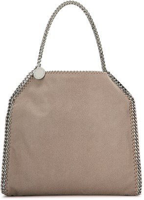 Stella McCartney Falabella Two Chain Taupe Faux Suede Tote