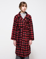 Red Check Coat - ShopStyle