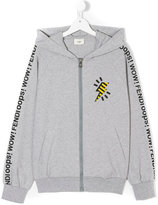 Fendi teen lightening bolt hoodie - kids - Cotton/Spandex/Elastane - 14 yrs
