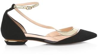Nicholas Kirkwood S Ballerina Leather, Suede & PVC Flats