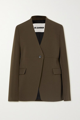 Jil Sander Wool-twill Blazer - Army green