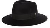 Larose Rabbit-felt fedora hat
