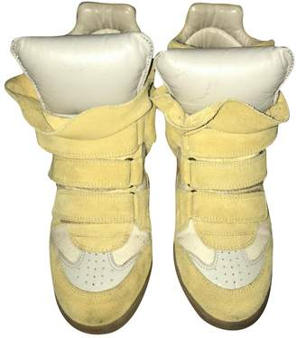Isabel Marant Bayley Yellow Suede Trainers