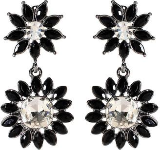 Amrita Singh Women's Earrings Black - Austrian Crystal & Black Baronial Drop Earrings