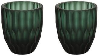 "Aspen Creative Corporation Aspen Creative Green Glass Votive Candle Holder 3-1/4"" Diameter x 4"" Height, 2 Pack"