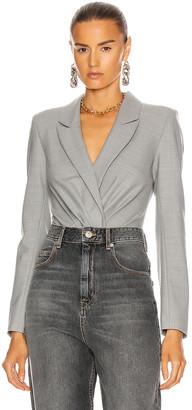 RtA Maryse Blazer Bodysuit in Fumo Grey | FWRD