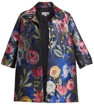 Caroline Rose Caroline Rose, Plus Size Garden Variety Jacquard Party Jacket