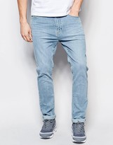 Dr Denim Jeans Leon Slim Tapered Light Blue Wash