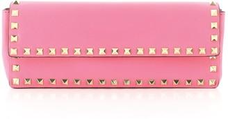 Valentino Rockstud Bracelet Clutch Leather Long