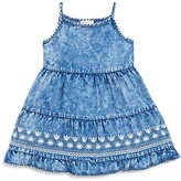 Design History Girls' Chambray Embroidered Dress
