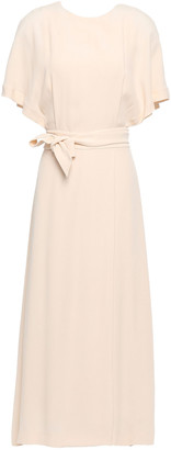 Equipment Chemelle Bow-detailed Washed-crepe Midi Dress