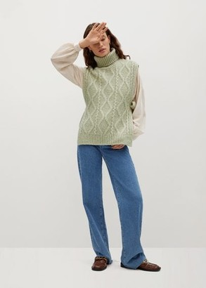 MANGO Turtleneck knit Gillet