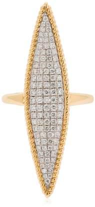 Leon Yvonne Paris Marquise 18kt Gold & Diamond Ring
