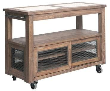 17 Stories Johanna Farmhouse Kitchen Cart With Stainless Steel Top 17 Stories