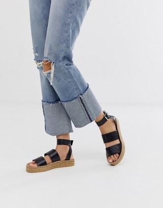 Asos Design DESIGN Janella espadrille sandals-Black