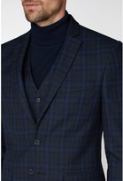 Jeff Banks Jeff Banks Jaspe Check Ivy League Suit Jacket In Slim Fit - Blue