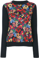 Paul Smith floral knitted top