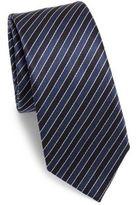 Z Zegna Striped Silk Tie