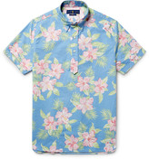 Polo Ralph Lauren Button-Down Collar Floral-Print Cotton Oxford Shirt